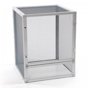 16x16x20″ Aluminum Chameleon Cage (Silver)