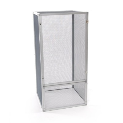18x18x36″ Aluminum Chameleon Cage (Silver)