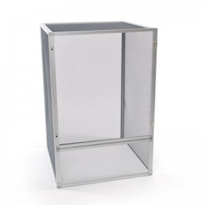 24x24x36″ Aluminum Chameleon Cage (Silver)